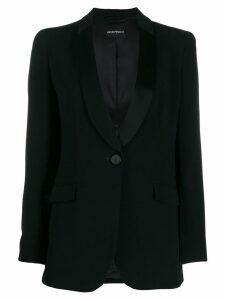Emporio Armani classic cigarette blazer - Black