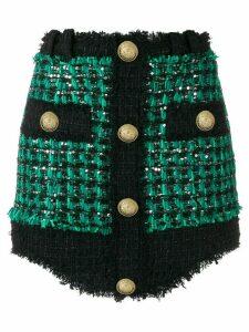 Balmain high-waist short skirt - Green