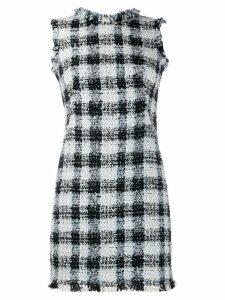 Alexander McQueen bouclé tweed mini dress - Blue