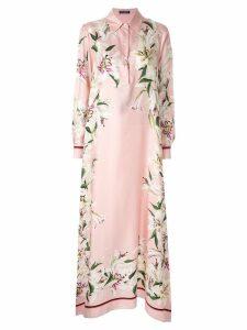 Dolce & Gabbana Lily print asymmetric dress - Pink
