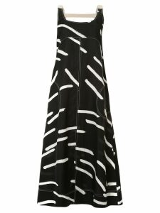 Lee Mathews Palmas printed maxi dress - Black
