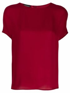 Emporio Armani classic silk blouse - Red