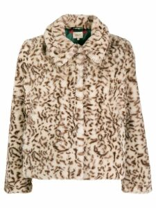 Bellerose leopard faux fur jacket - Neutrals