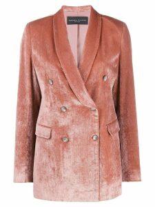 Fabiana Filippi double-breasted velvet jacket - Pink