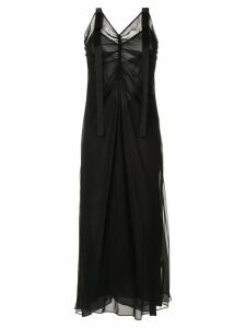 Lee Mathews sleeveless Eve slip dress - Black