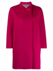 Alberto Biani off-centre coat - Pink