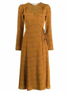Vanessa Bruno floral wrap dress - Brown