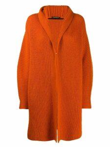 Luisa Cerano chunky knit cardi-coat - Orange