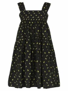 Cecilie Bahnsen floral-print baby-doll dress - Black