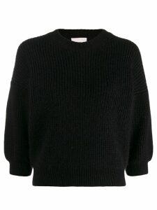 3.1 Phillip Lim ribbed crewneck knitter jumper - Black