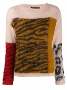 Luisa Cerano Tiger knit jumper - Neutrals