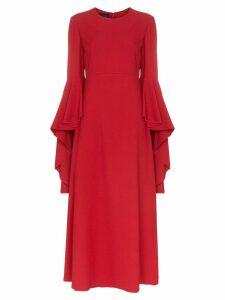 Giambattista Valli ruffle sleeve maxi dress - Red