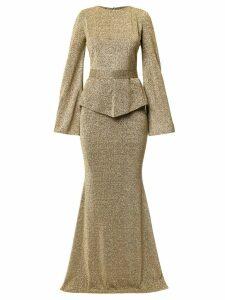 Safiyaa London shimmer gown - GOLD