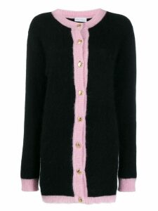 Chiara Ferragni pink trim knitted cardigan - Black