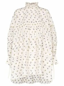 Cecilie Bahnsen oversized floral shirt-dress - Neutrals