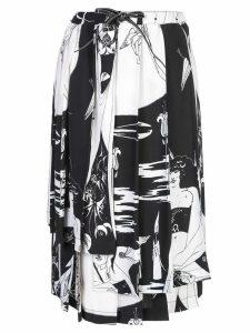 Loewe Salome print skirt - White