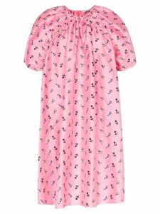 Cecilie Bahnsen floral puff-sleeve midi dress - Pink