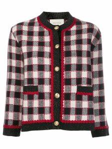 Gucci tweed check jacket - Black
