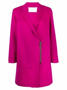 Fabiana Filippi zip-up oversized coat - Pink
