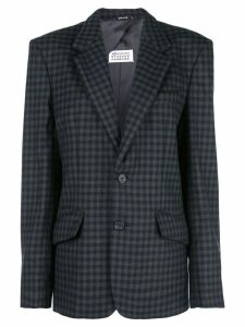 Maison Margiela checked blazer - Grey