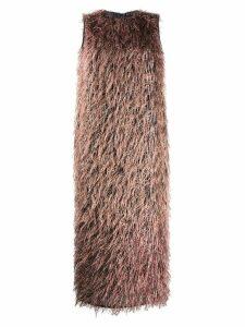 Fabiana Filippi sleeveless fringed dress - Pink