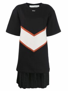 Off-White contrasting panels T-shirt dress - Black