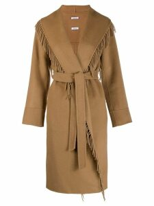 P.A.R.O.S.H. fringed coat - Neutrals