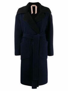 Nº21 belted wool coat - Blue