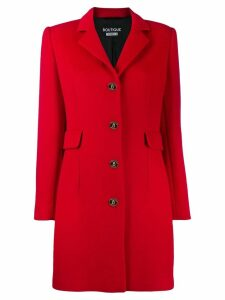 Boutique Moschino single-breasted coat - Red