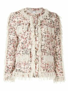 Huishan Zhang Cecil tweed jacket - White