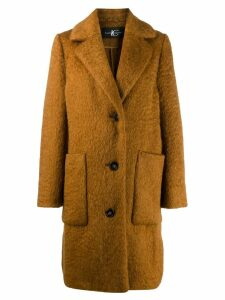 Luisa Cerano single-breasted coat - Brown