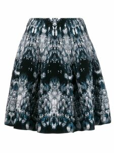 Alexander McQueen abstract pattern knitted skirt - Blue