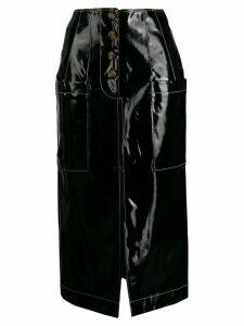 Rejina Pyo coated shell skirt - Black