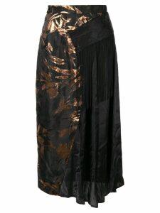 Taller Marmo Medley floral asymmetric skirt - Black