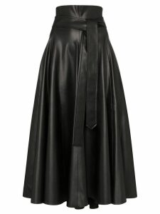Anouki flared midi skirt - Black