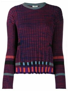 Kenzo ridged knitted top - Red