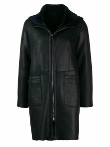 Salvatore Santoro zipped hooded coat - Blue