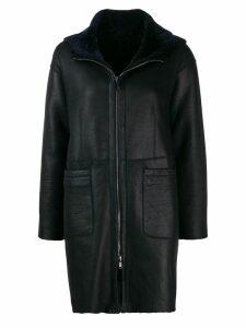 Salvatore Santoro zipped hooded coat - Blue