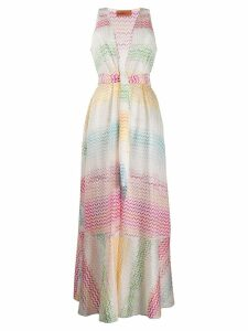 Missoni Mare colour-block maxi dress - White