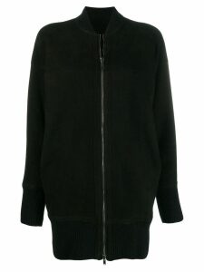 Salvatore Santoro zipped fitted coat - Black