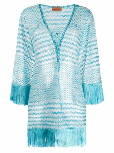 Missoni Mare fringed beach dress - Blue