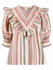 Ulla Johnson stripe print blouse - Pink