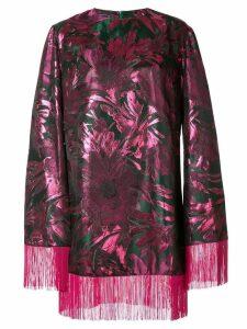 Taller Marmo Blowup floral jacquard dress - Metallic