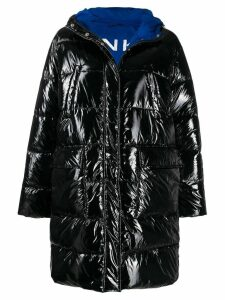 Pinko logo puffer jacket - Black