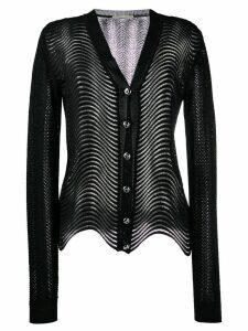 Marco De Vincenzo wave-knit cardigan - Black