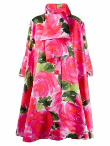 Richard Quinn floral printed coat - Pink