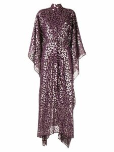 Taller Marmo Foil-print kaftan dress - Purple