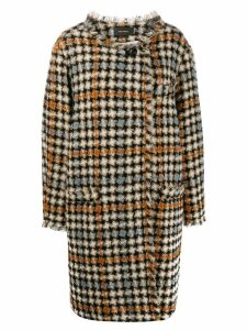 Isabel Marant Zaban oversized tweed coat - Neutrals