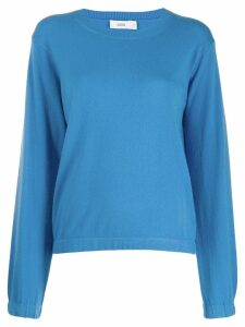 Closed knitted jumper - Blue