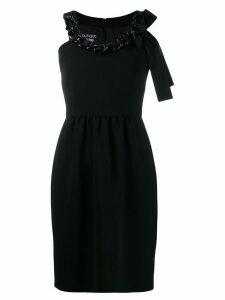 Boutique Moschino chain-embellished mini dress - Black